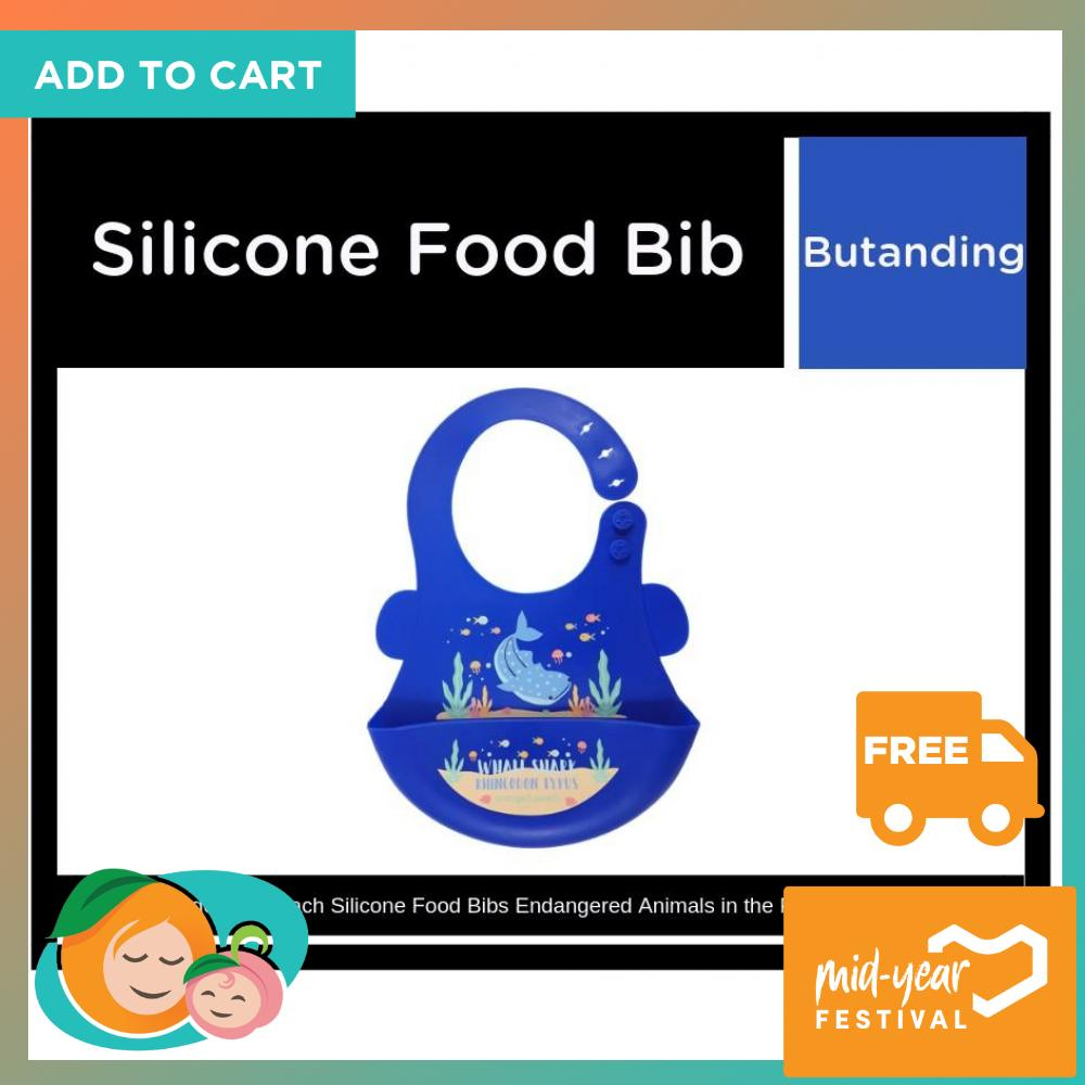 Orange And Peach Silicone Food Bibs Butanding