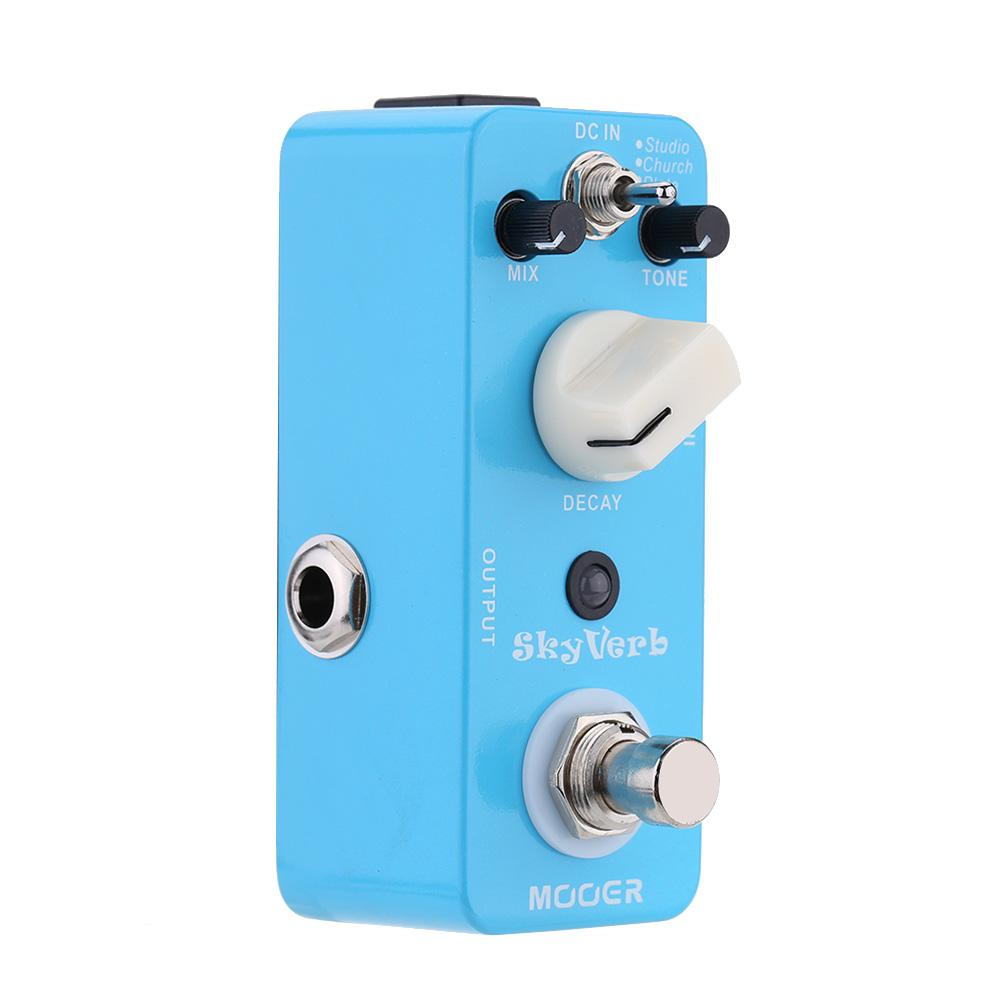 Mooer Sky Verb Micro Mini Reverb Effect Pedal for Electric Guitar True Bypass