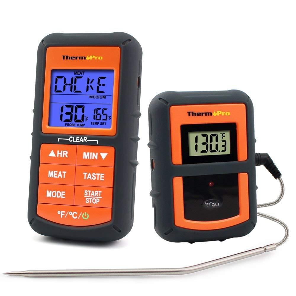 Thermopro Tp-07 Wireless Remote Digital Cooking Turkey Food Meat Thermometer For Grilling Oven Kitchen Smoker Bbq Grill Thermometer With Probe, 300 Feet Range By Galleon.ph.