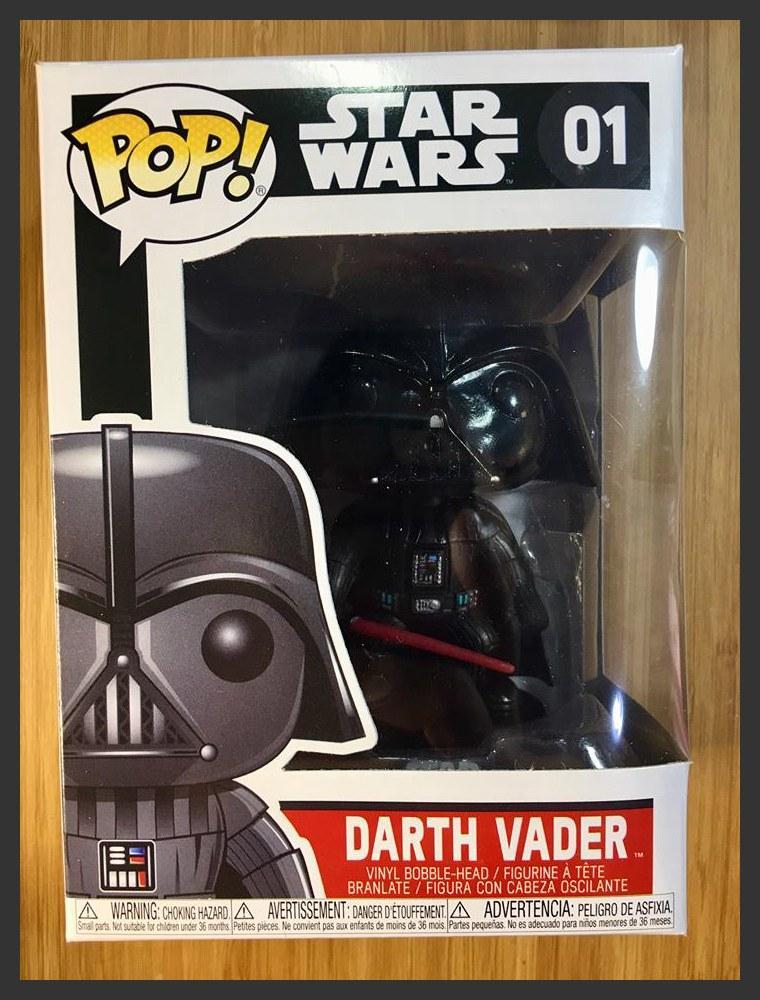 Vinyl Figure Bobble Head Star Wars Darth Vader Funko Pop