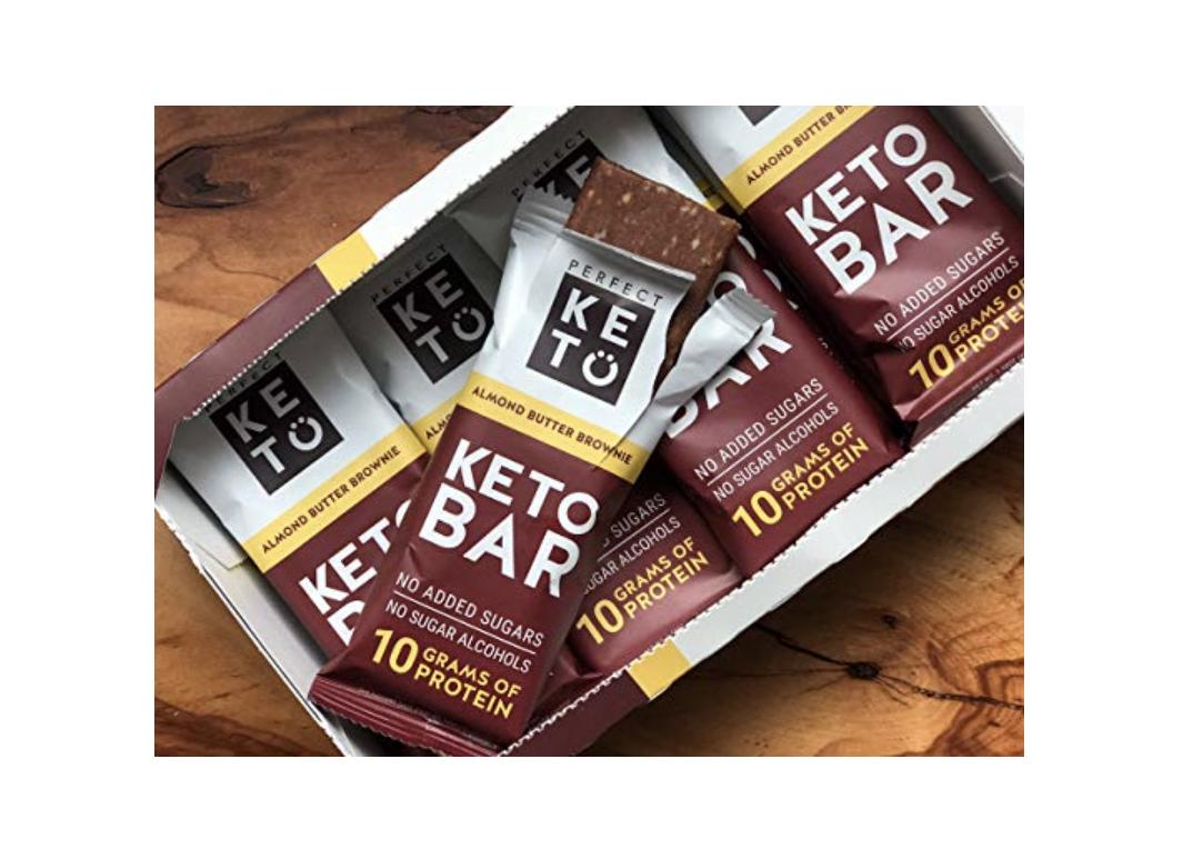 Perfect Keto Chocolate Bar, Almond and Cacao Butter, Keto Snack, 3g net of  Carbs, No Added Sugar  10g of Protein, Coconut Oil, and Collagen, with a