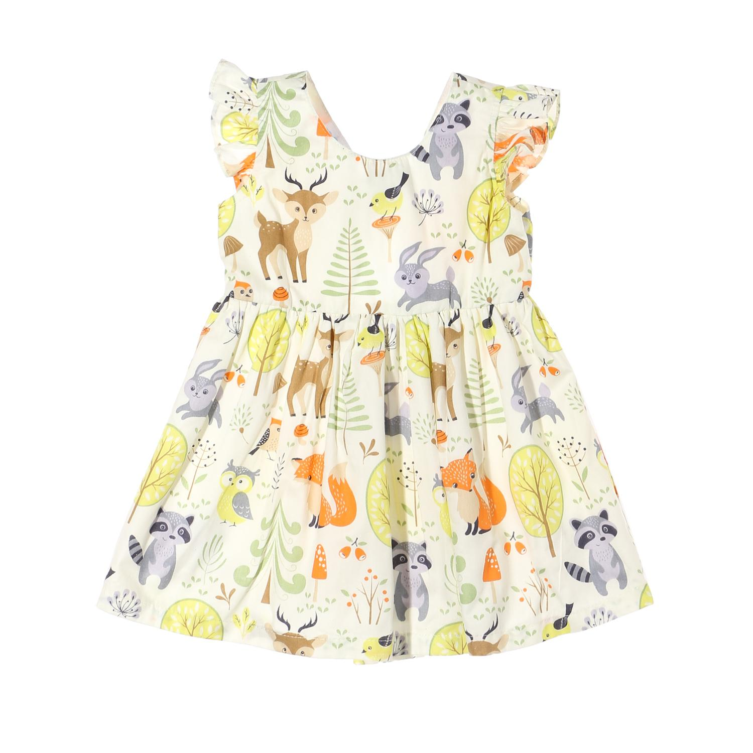 355197c07 Crib Couture Baby Girls Animals Fit and Flare Dress in Multi-print