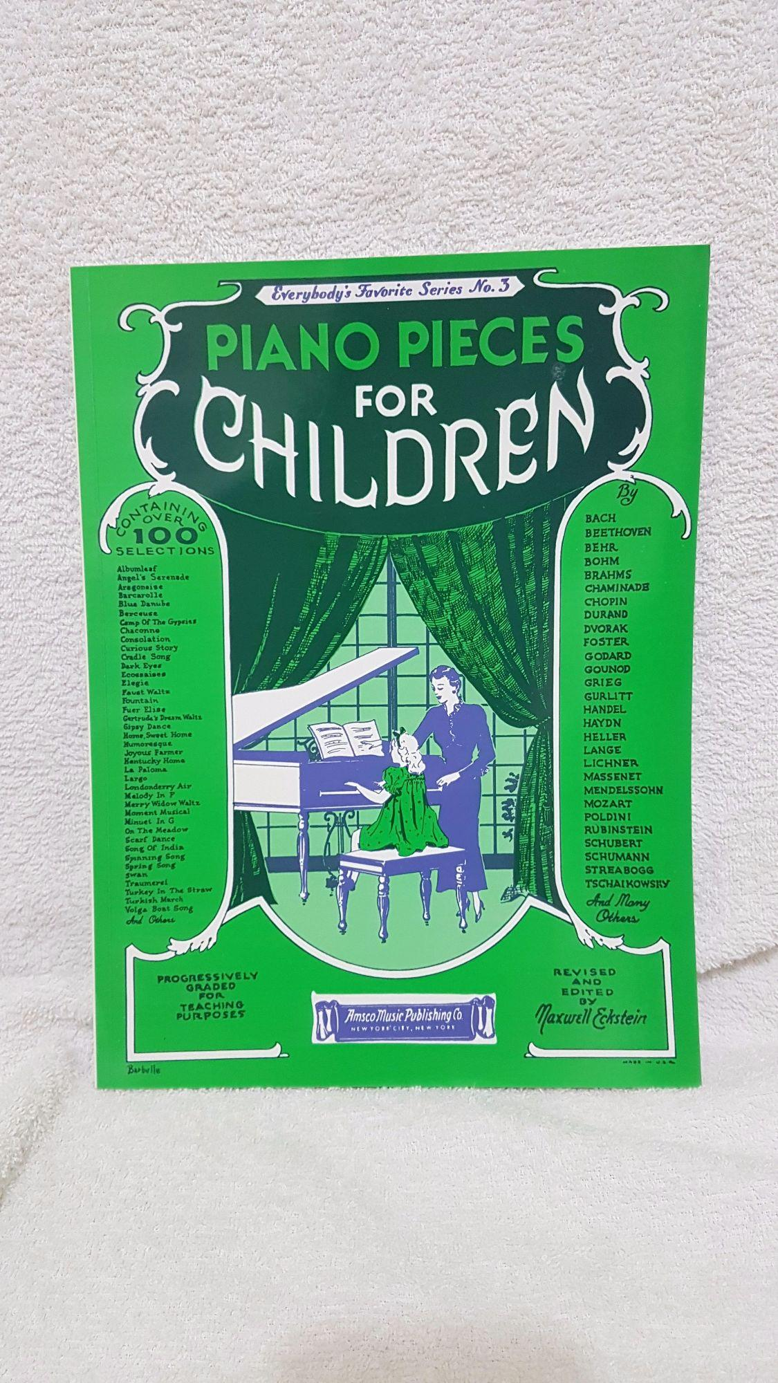 Piano Pieces for Children Everybody's Favorite Series No 3 Book (Piano  Lesson Books / Piano Books)