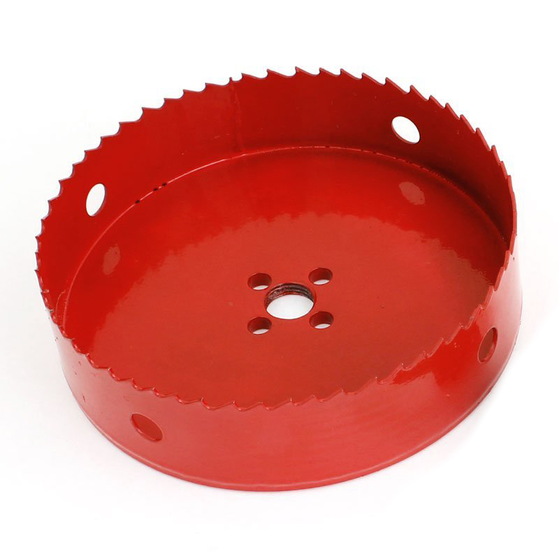 Rake Teeth Bimetal 135mm Cutting Diameter Red Hole Saw