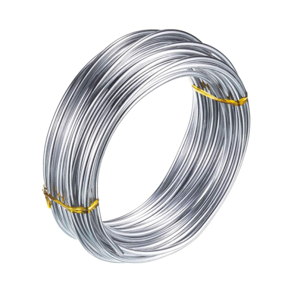3mm Aluminium Wire 10M Craft Silver Wire for Jewellery Making Clay Modelling Bonsai and Model