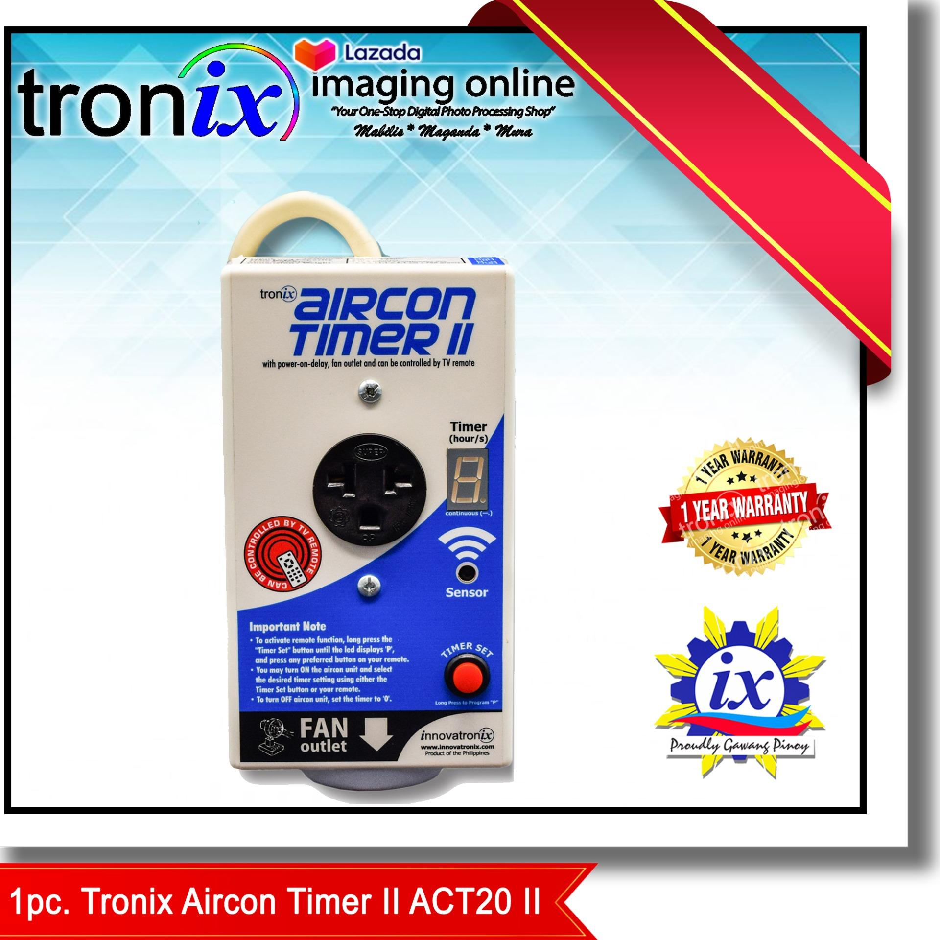 troniximaging Air con Timer ACT20 II One (1) piece Energy Saver and  Appliance Protector AirCon Timer version II with Power On Delay and can be