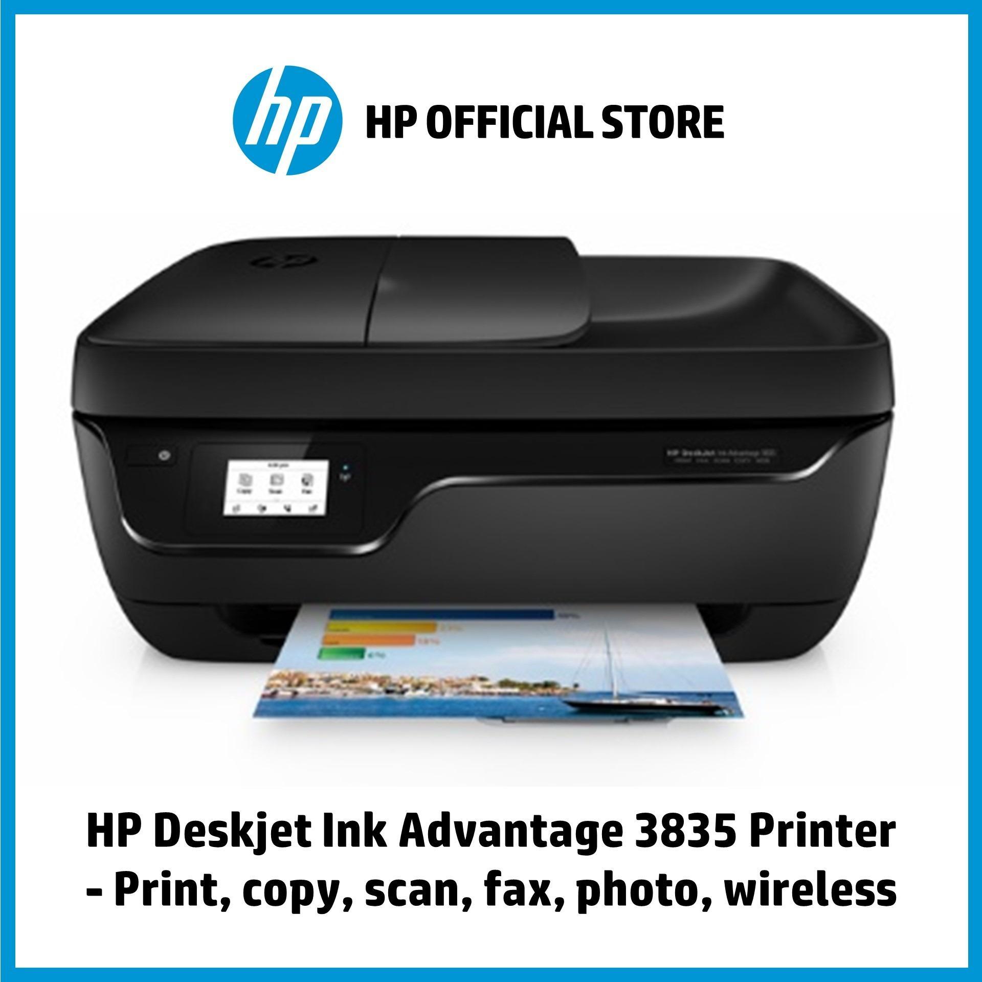 HP Deskjet Ink Advantage 3835 Printer - Print, copy, scan, fax, photo,  wireless