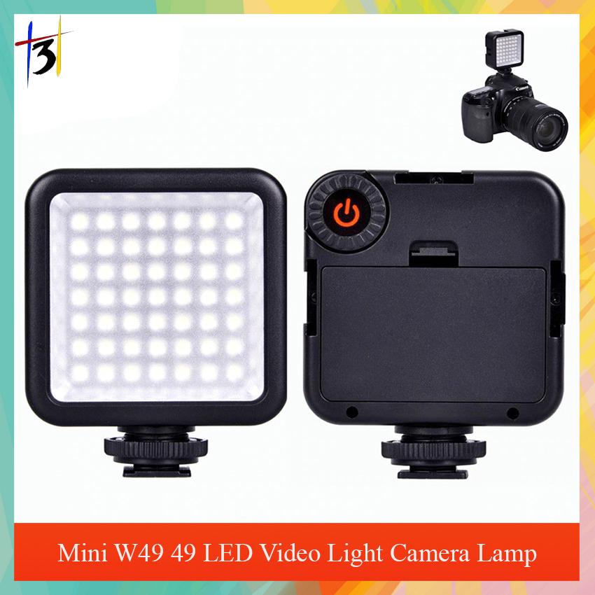 Dimmable W49 Digital LED Video Light Panel for DSLR Camera Lighting Lamp 6000K
