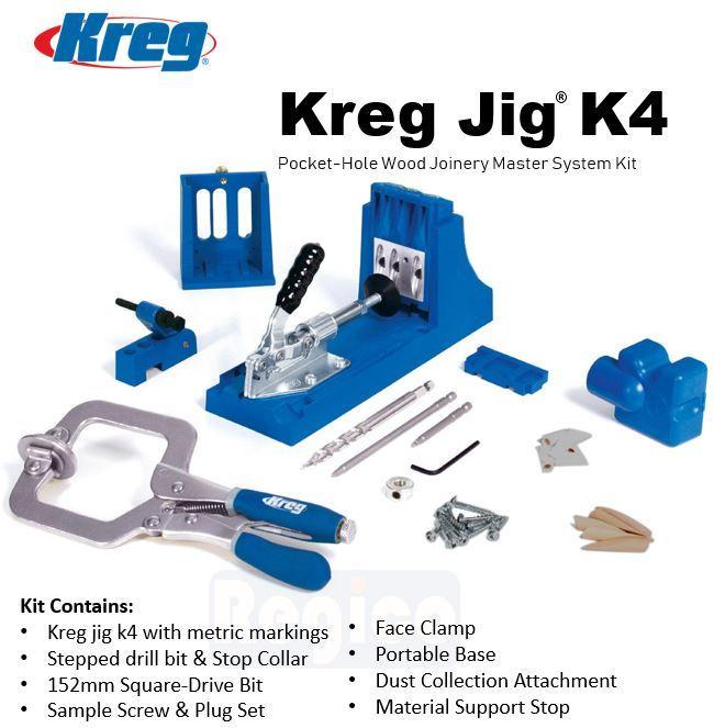 Kreg Jig K4 Pocket-Hole Wood Joinery Master System (K4MS-INT)