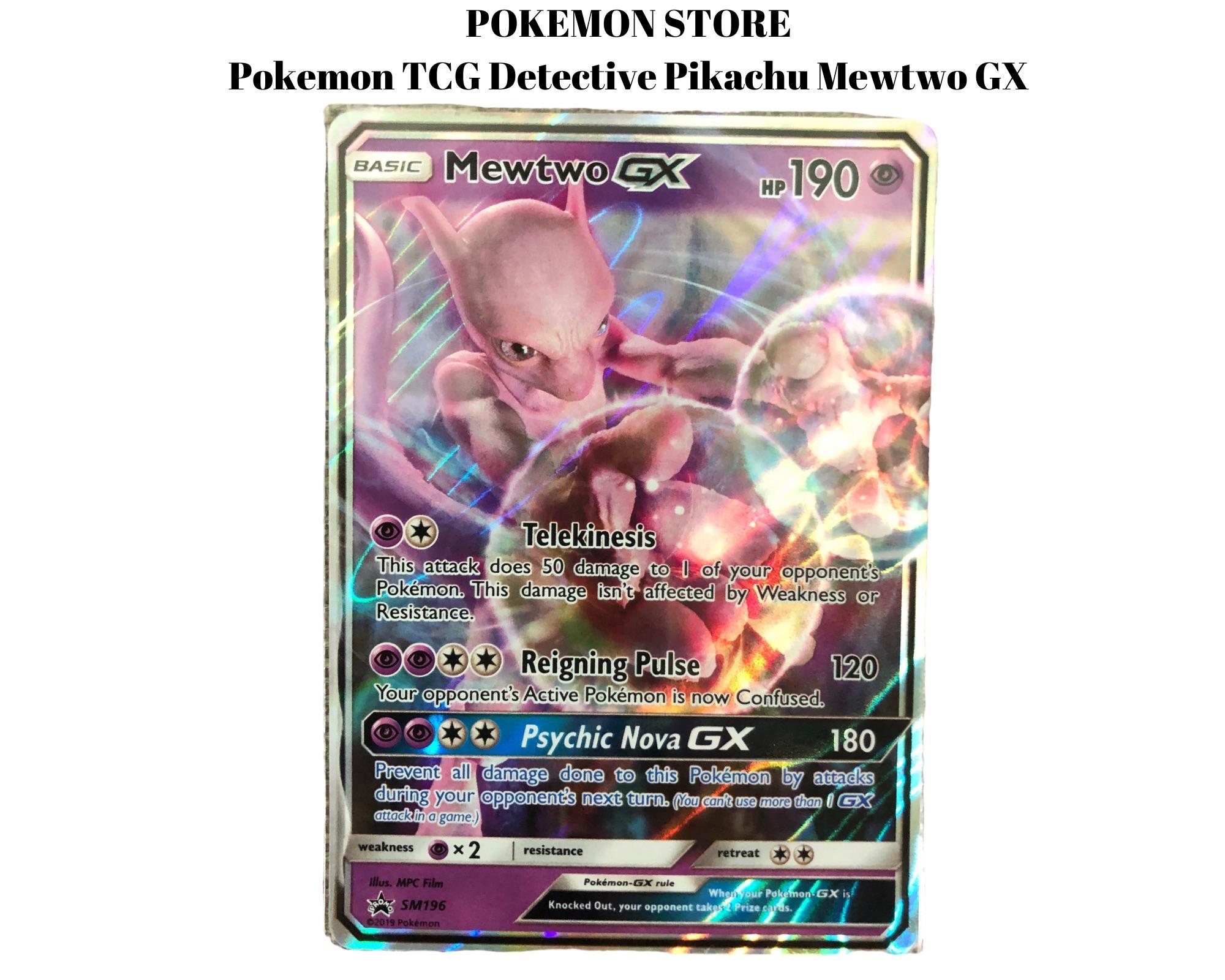 detective pikachu mewtwo card price