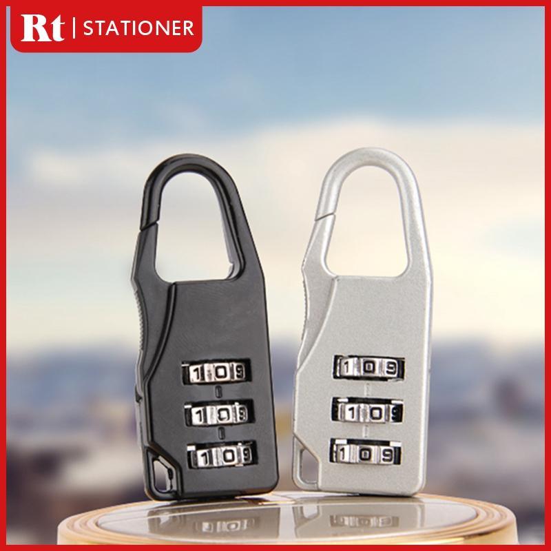 2b7fb051da6e 3 Digit Combination Code Lock Mini Luggage Travel Padlock Schoolbag Lock  Zinc Alloy Baggage Lock Anti-theft Password Lock