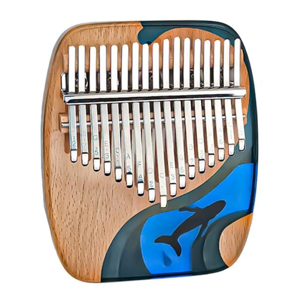 17-Tone Thumb Piano Square Wood+Acrylic Kalimba Whale Finger Piano Musical Instrument Malaysia
