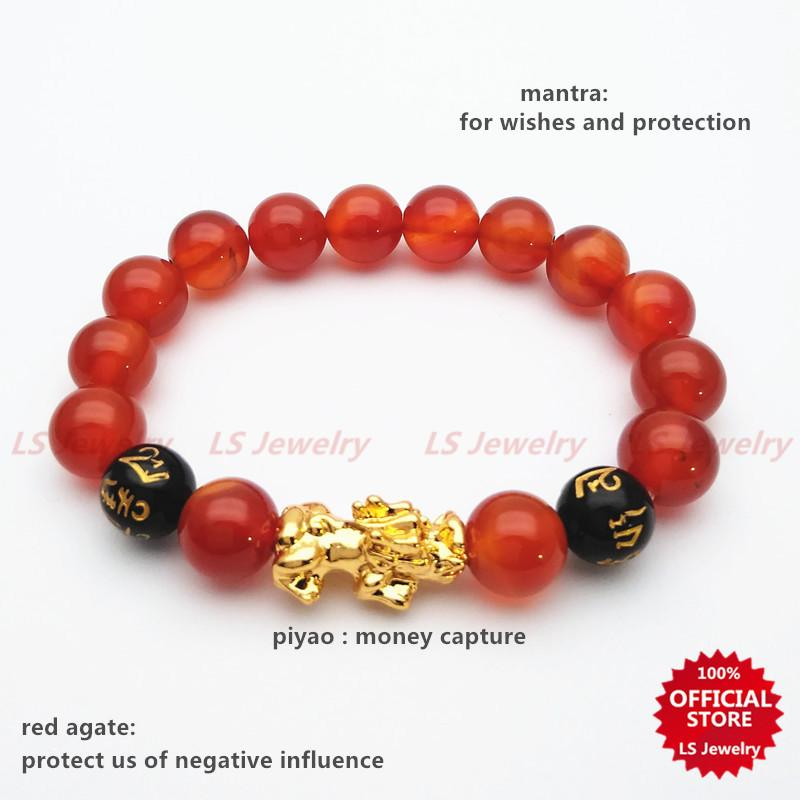 c685b87c6 LSjewelry Piyao lucky charm stainless gold plated and stone bracelet Unisex  B1097