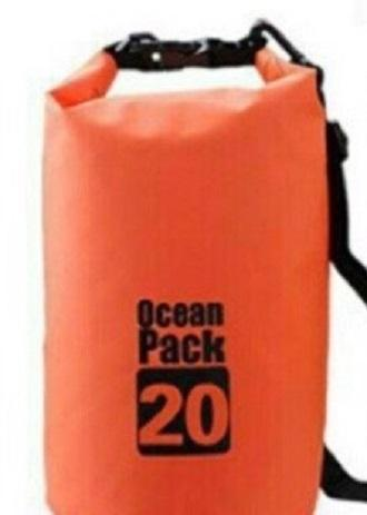 Ocean Pack Portable Barrel-Shaped Waterproof Dry Bag 20L (Assorted Colors) image on snachetto.com