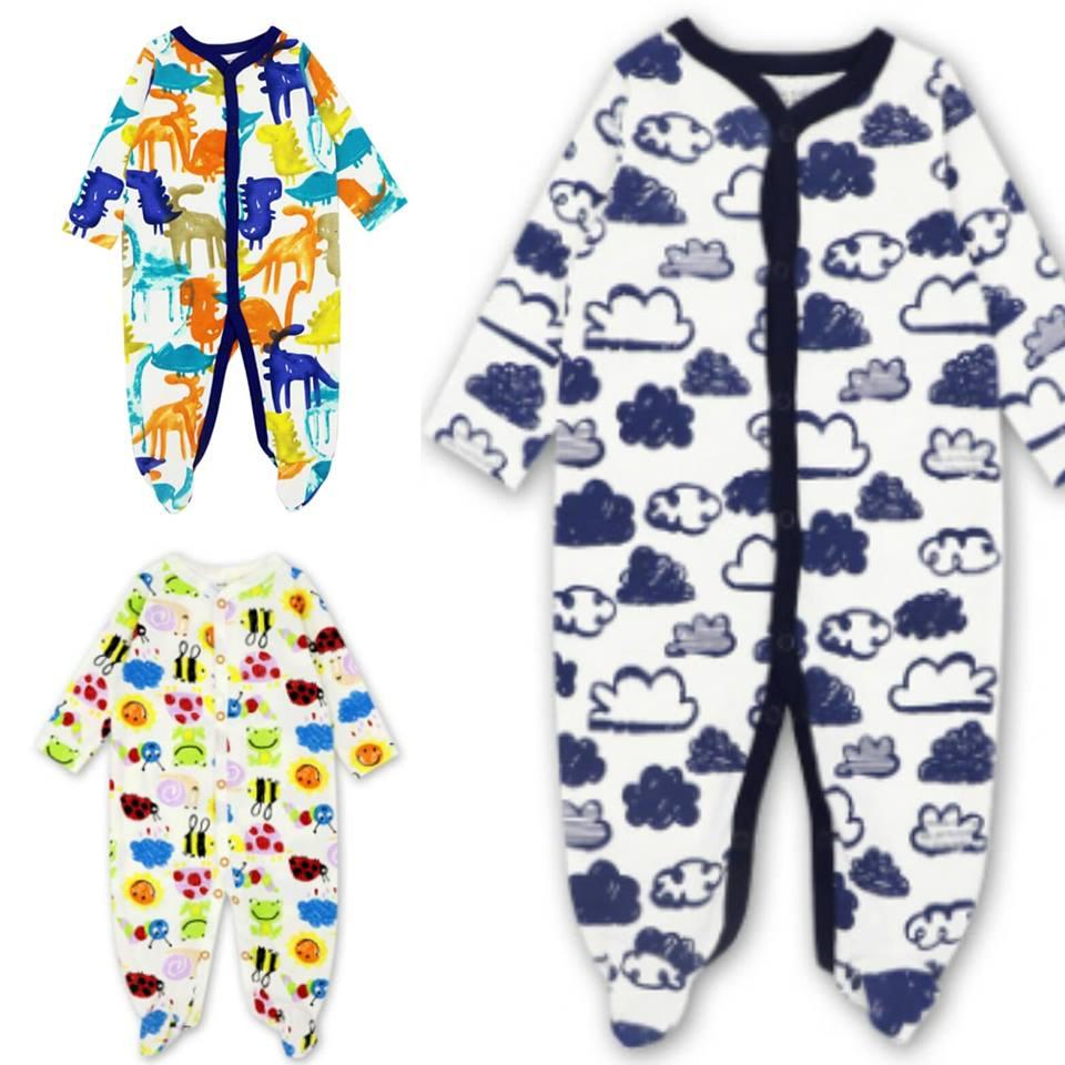 Mk101- Motherkids Premium Quality Sleepsuit 3 Pcs By Fashion & Trend Ph.