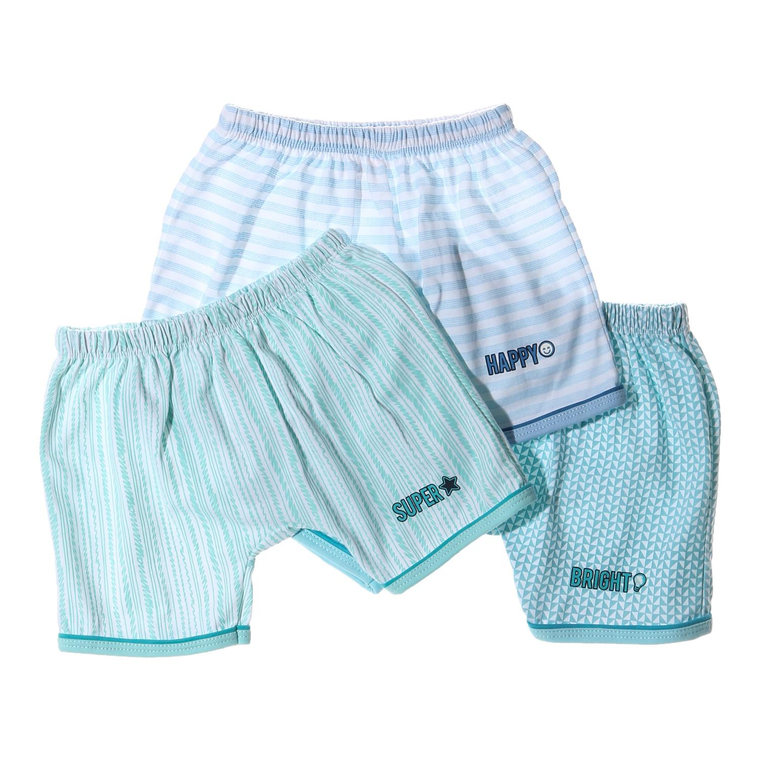 Hush Hush Baby Boys 3-Piece Bright Happy Super Shorts Set By The Sm Store.