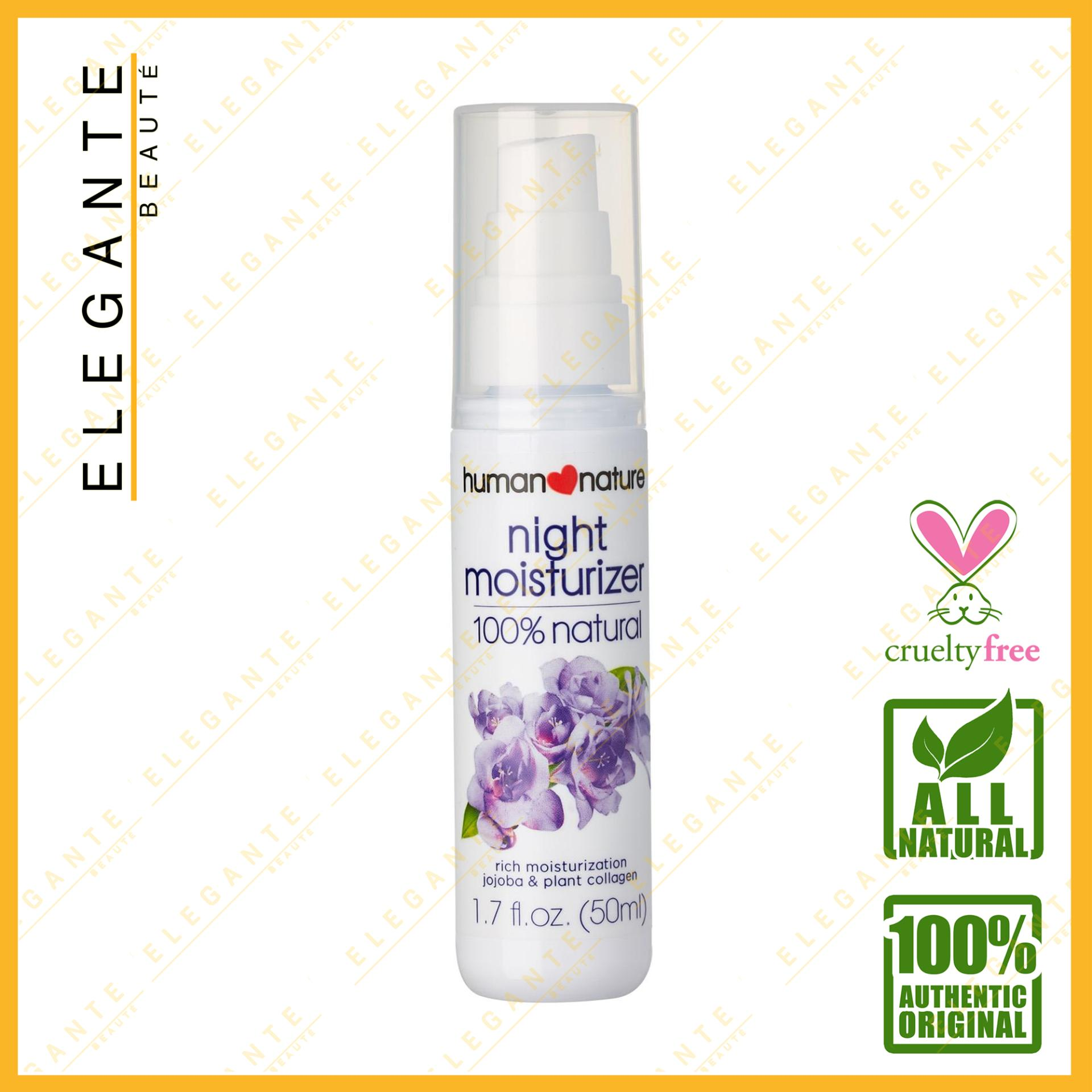 Elegante Beaute Human Nature Night Moisturizer 100% All Natural With Jojoba Extract And Plant Collagen 50ml By Elegante Beaute.