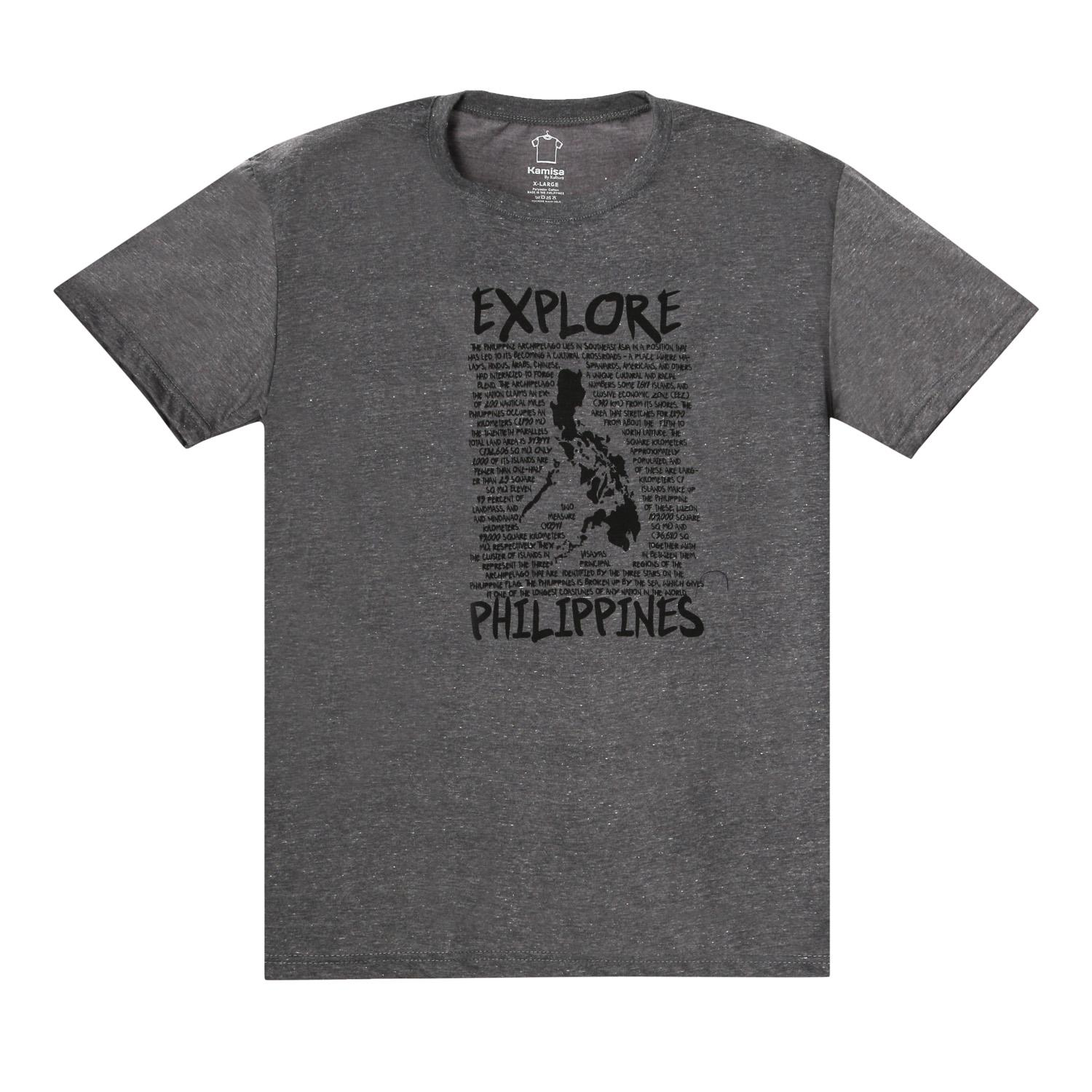 Kamisa By Kultura Mens Graphic Tee in Gray