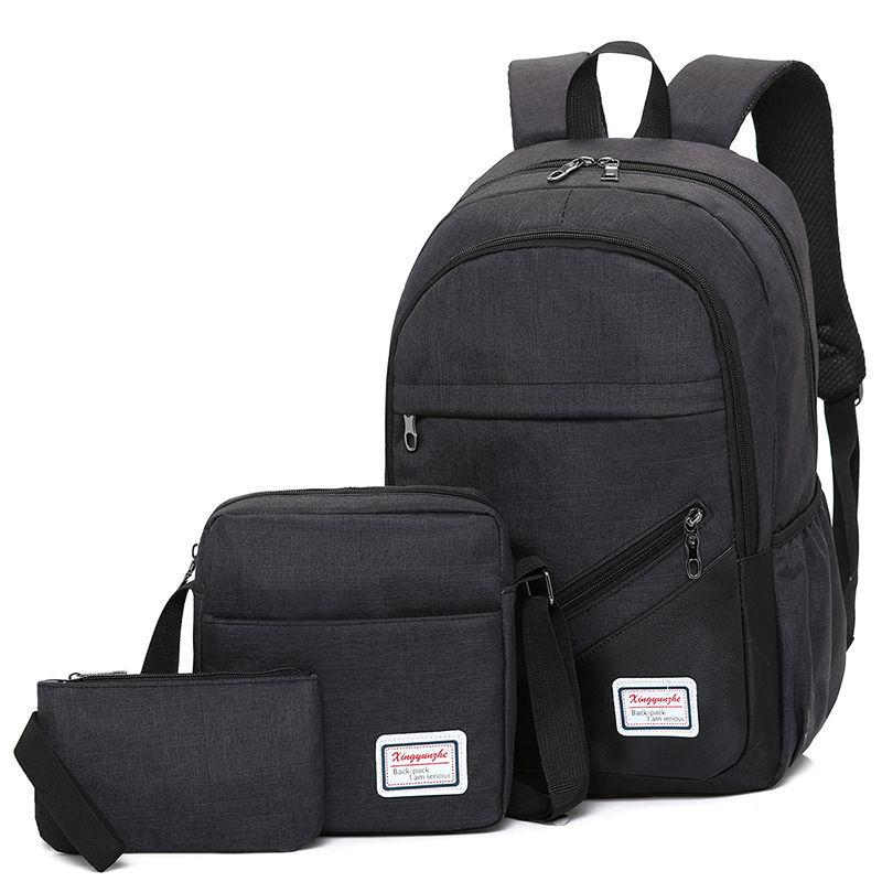 3 In 1 Men Backpack Travel Backpack Laptop Bag Laptop Backpack With Cross Body Bag Sling Bag Pouch Travel Waterproof Backpack Nylon Backpack For Men Sport Backpack Korean Backpack Men Bag For Men Sport Backpack Women Backpack Unisex Backpack By Ef-Fashion.