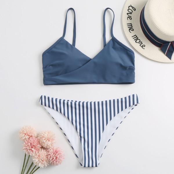 Siyao Phụ nữ tách áo tắm đi biển Màu đồng bộ Bikini Bộ đồ tắm Áo tắm