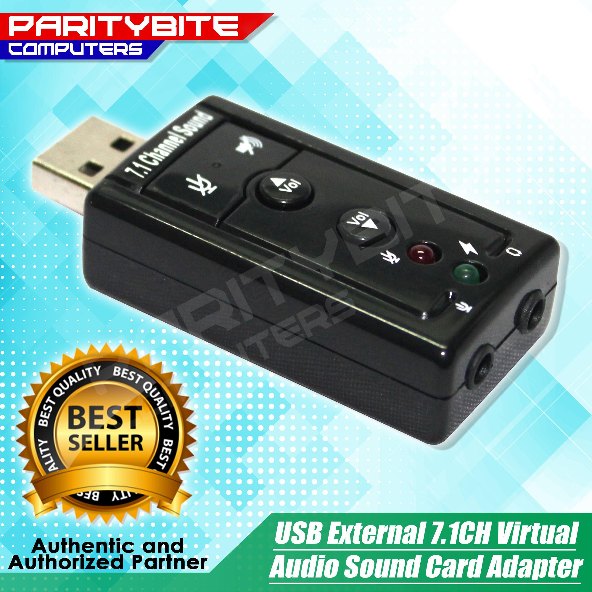 Usb External 7.1ch Virtual Audio Sound Card Adapter By Paritybite Computers.