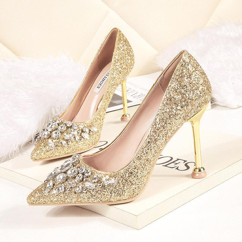Marriage Bride Glass Slipper Evening dress for women High Heels women  Winter Annual General Meeting Red d314d3df2f1e