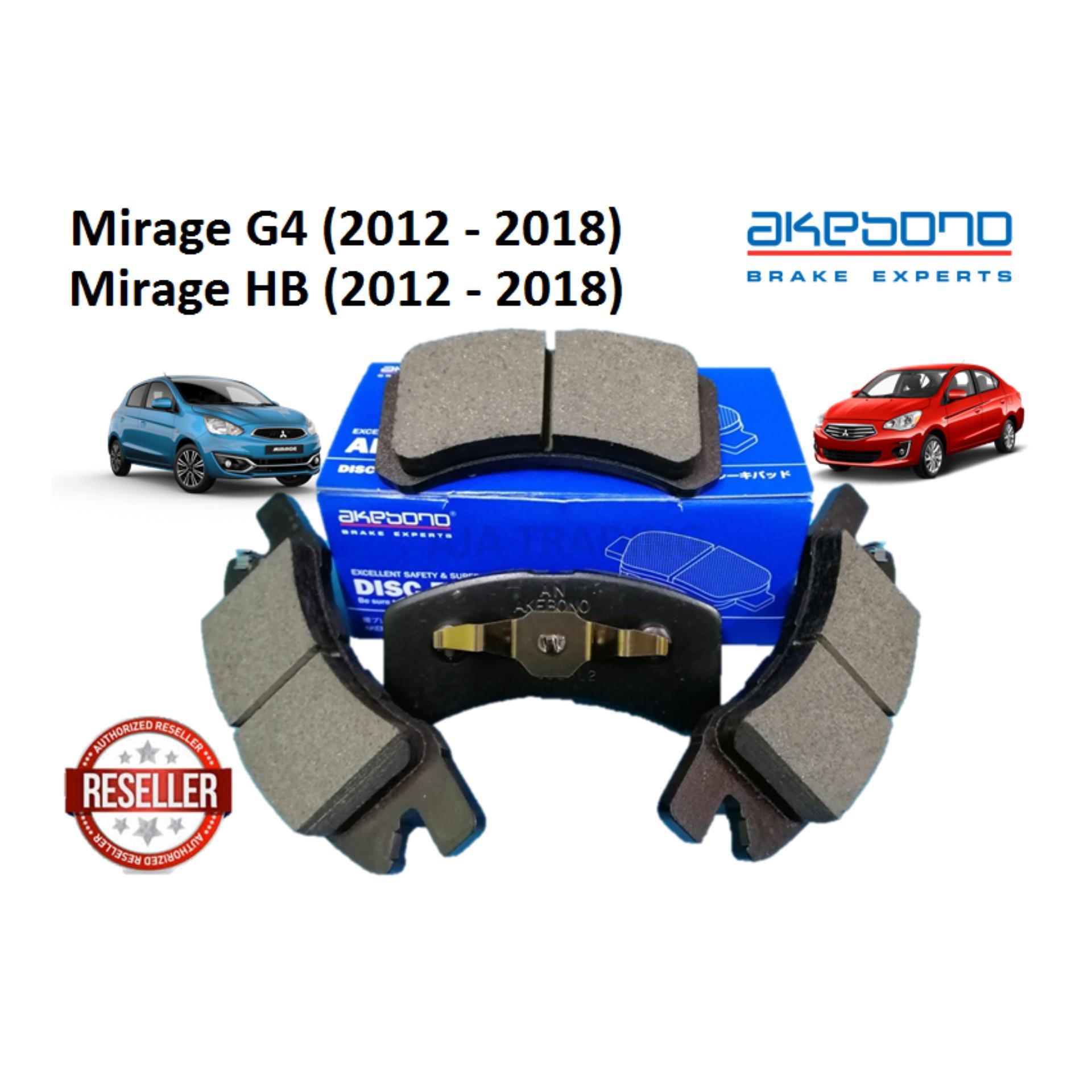 Genuine Akebono Front Brake Pads for Mitsubishi Mirage G4/HB (2012 - 2018)