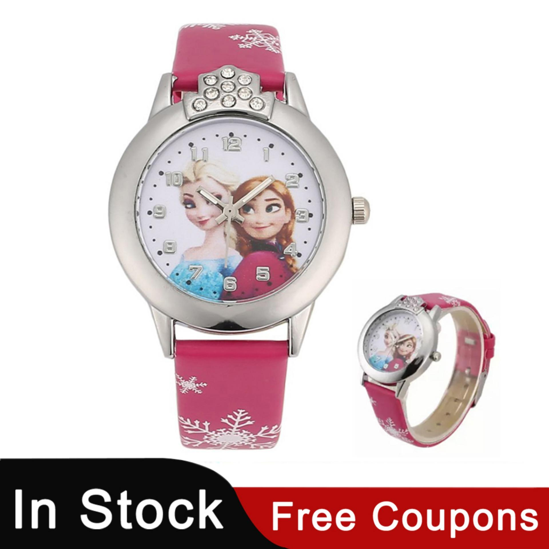 Children's Watches Ohsen Digital Lcd Kids Girl Pink Wristwatch Rubber Strap 50m Diver 7 Colors Cartoon Children Boys Fashion Watch Alarm Hand Clock