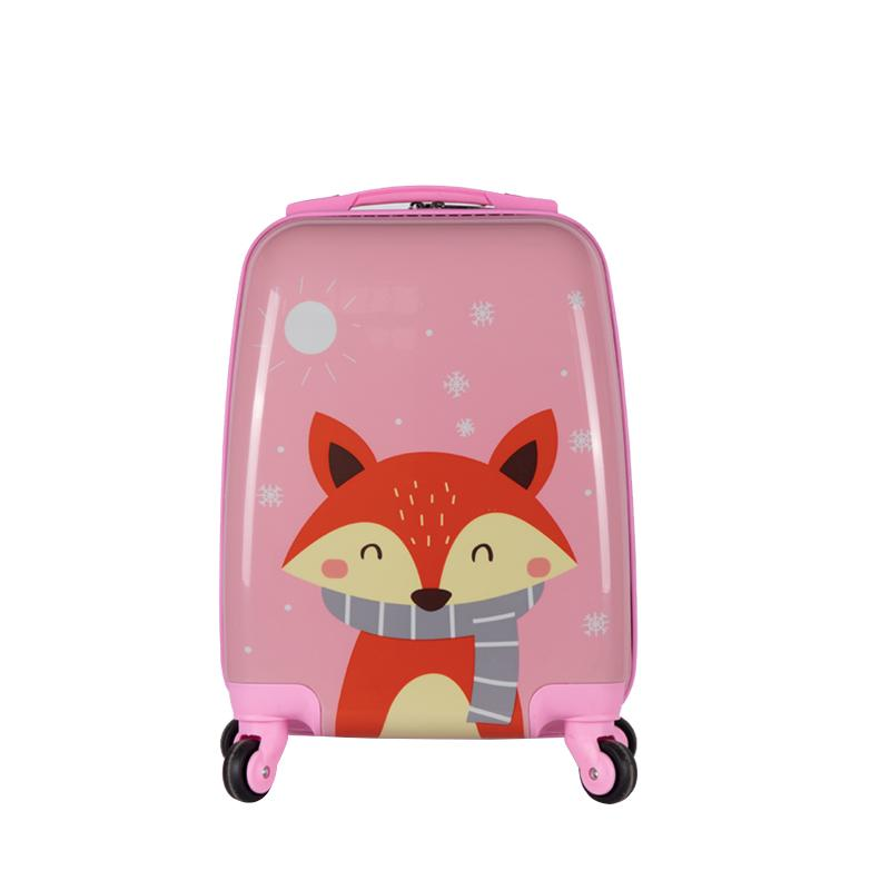 46d063c4ee55 Wake Children s Cartoon Travel Trolley Universal Wheel Luggage man Can Be  Riding women Baby Travel Lugguge