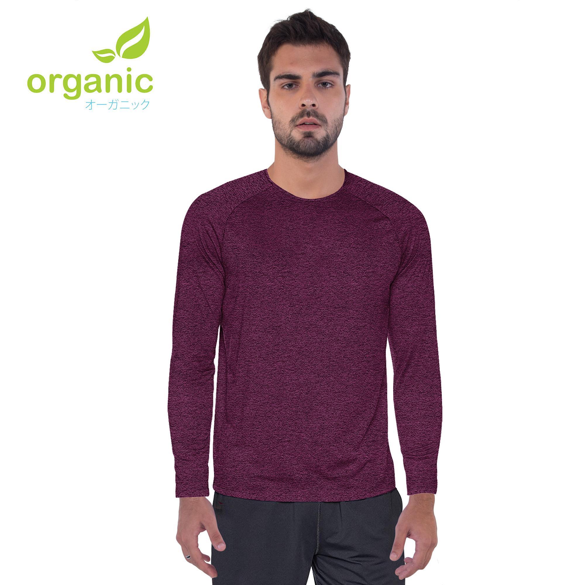 8d98a5d5c8 Organic Men Sports Active Long Sleeve Shirt Quick Dry Gym Training Dry Dri  Fit Compression Shirt
