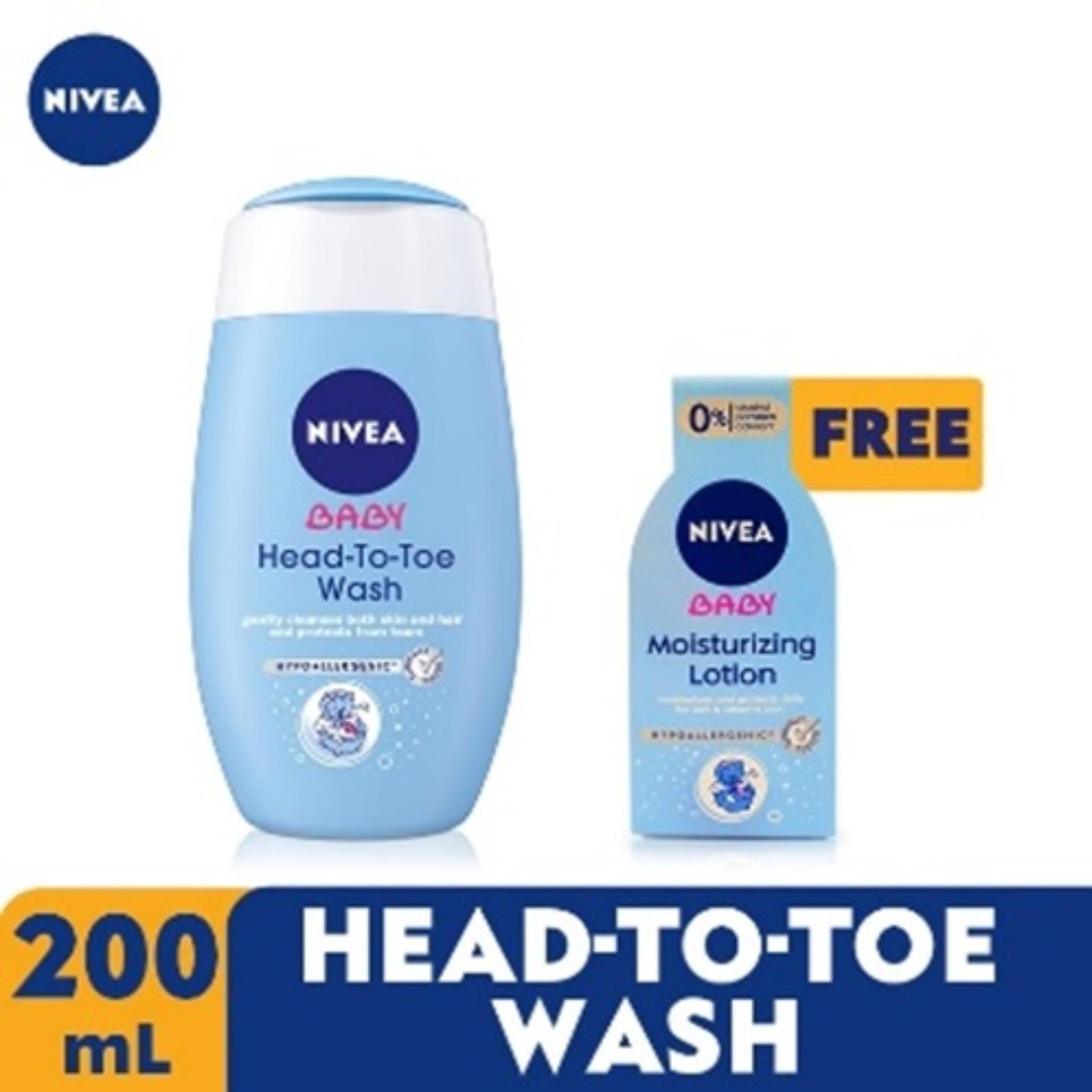 Nivea Baby Head To Toe 200ml + Free Baby Moisturizing Lotion 50ml By Lazada Retail Nivea.