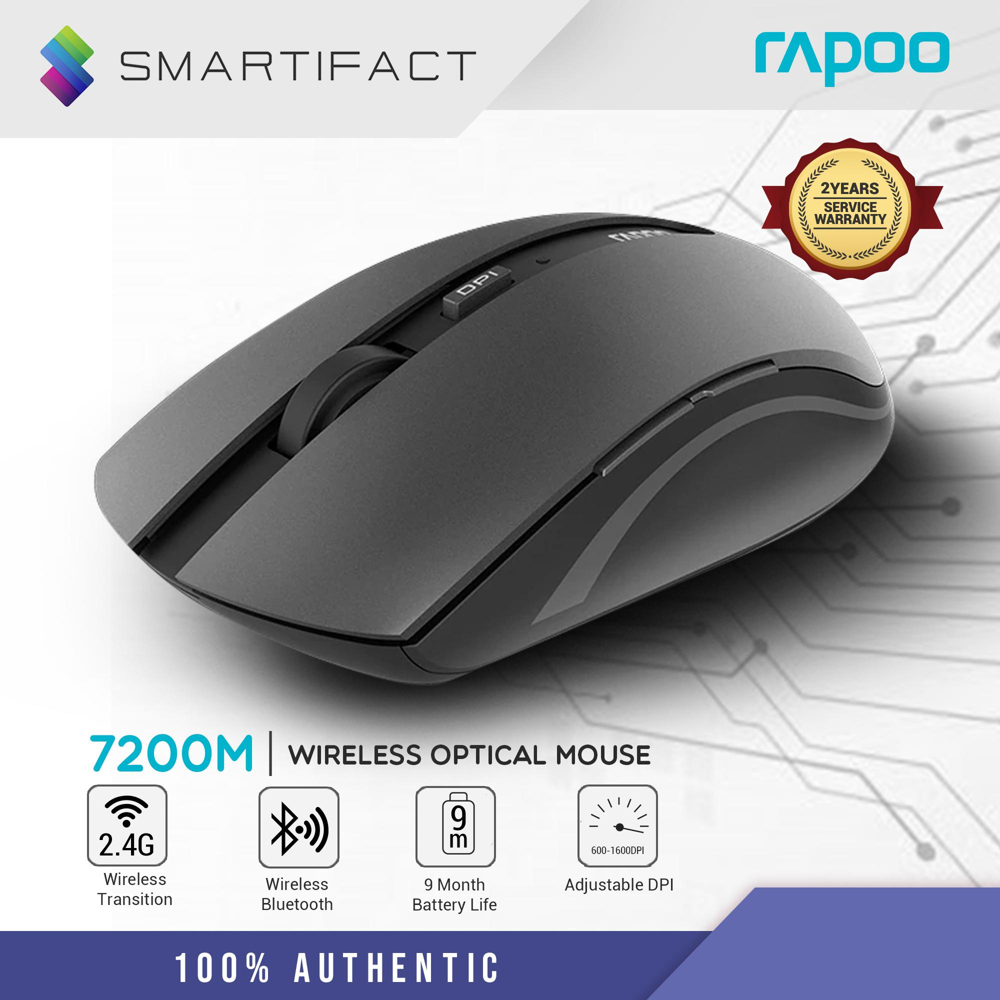 3636d877cba Rapoo 7200M Silent Bluetooth 3.0, 4.0 and 2.4G 10M Silent Multiple Mode  Optical Wireless