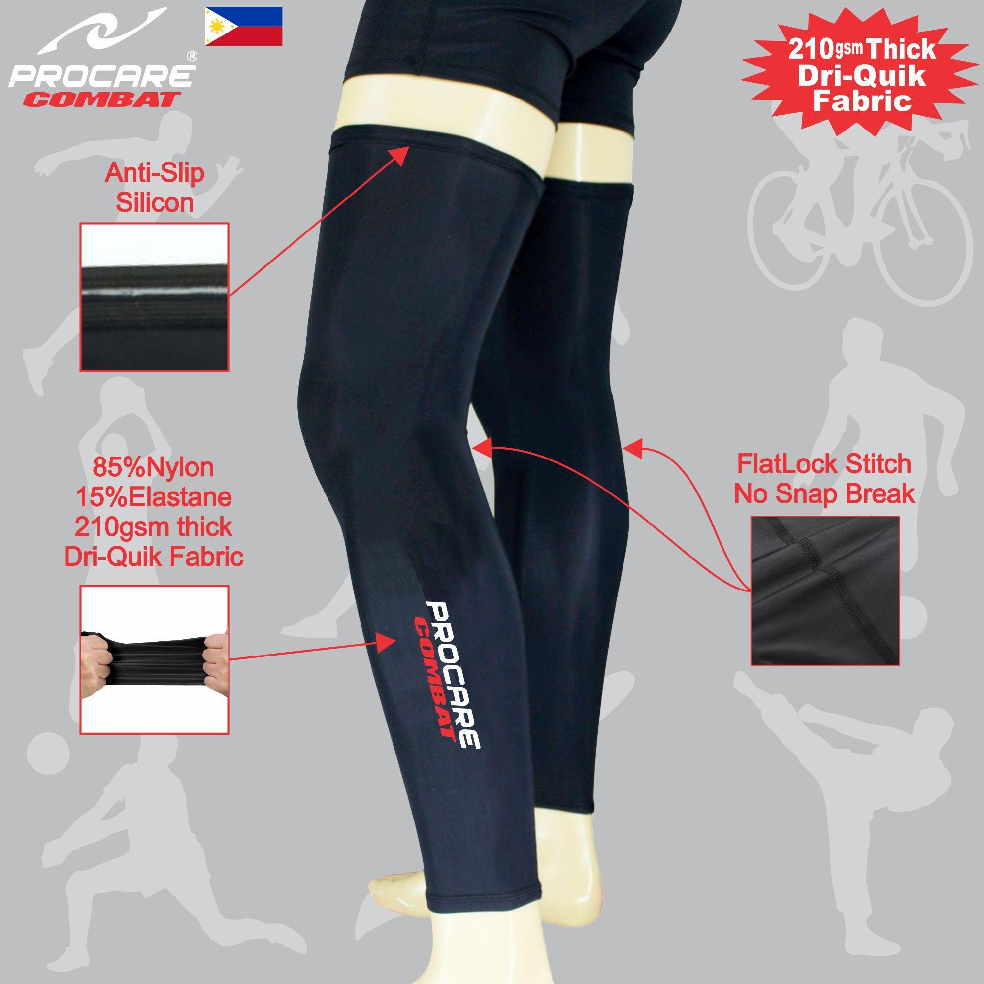 4c781928c5 PROCARE COMBAT #5206 Compression Full Leg Sleeves Dri-Quik Fabric Unisex  (Black)