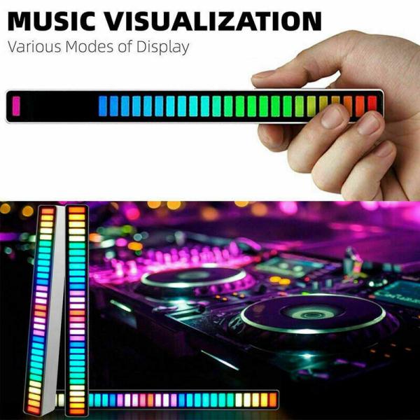 Bảng giá [EASEHOME] (Hàng Có Sẵn) Đèn Nhịp Điệu Thu Âm Kích Hoạt Bằng Giọng Nói RGB, Nhạc Nhịp Điệu Kích Hoạt Bằng Giọng Nói Đầy Màu Sắc, Đèn Không Khí, Đèn LED Để Bàn Xe Hơi