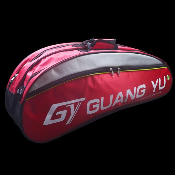 Badminton bag package for 3-6 rackets with Shoes Compartment 2 Main Packets 2 Sides