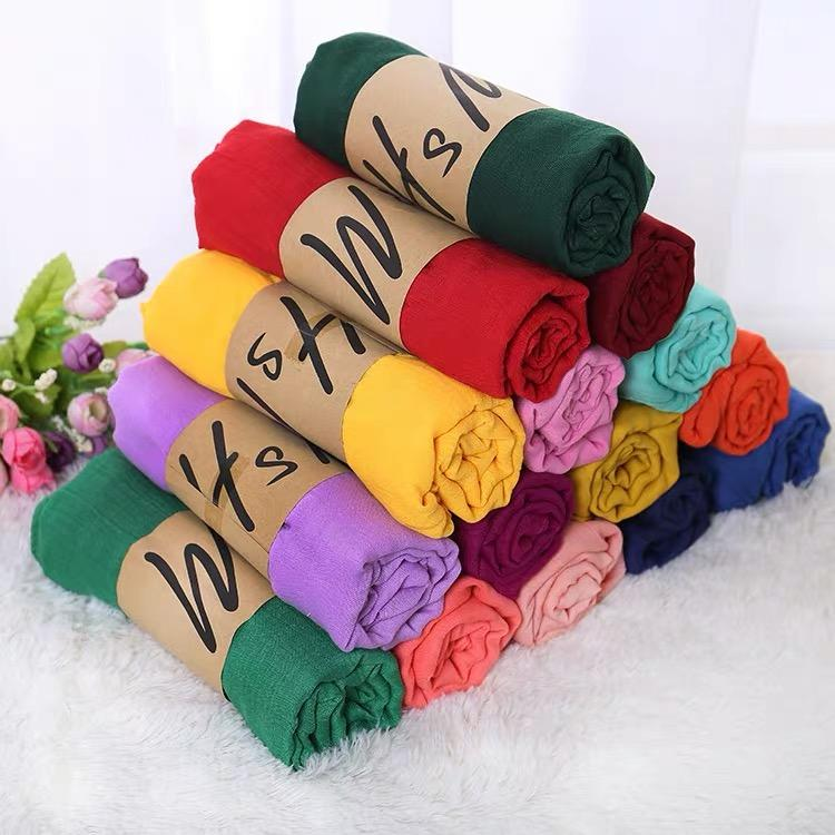 1a8283c05 Linkco Lady's Long Candy Color Soft Cotton Scarf Wrap Shawl Scarves A160
