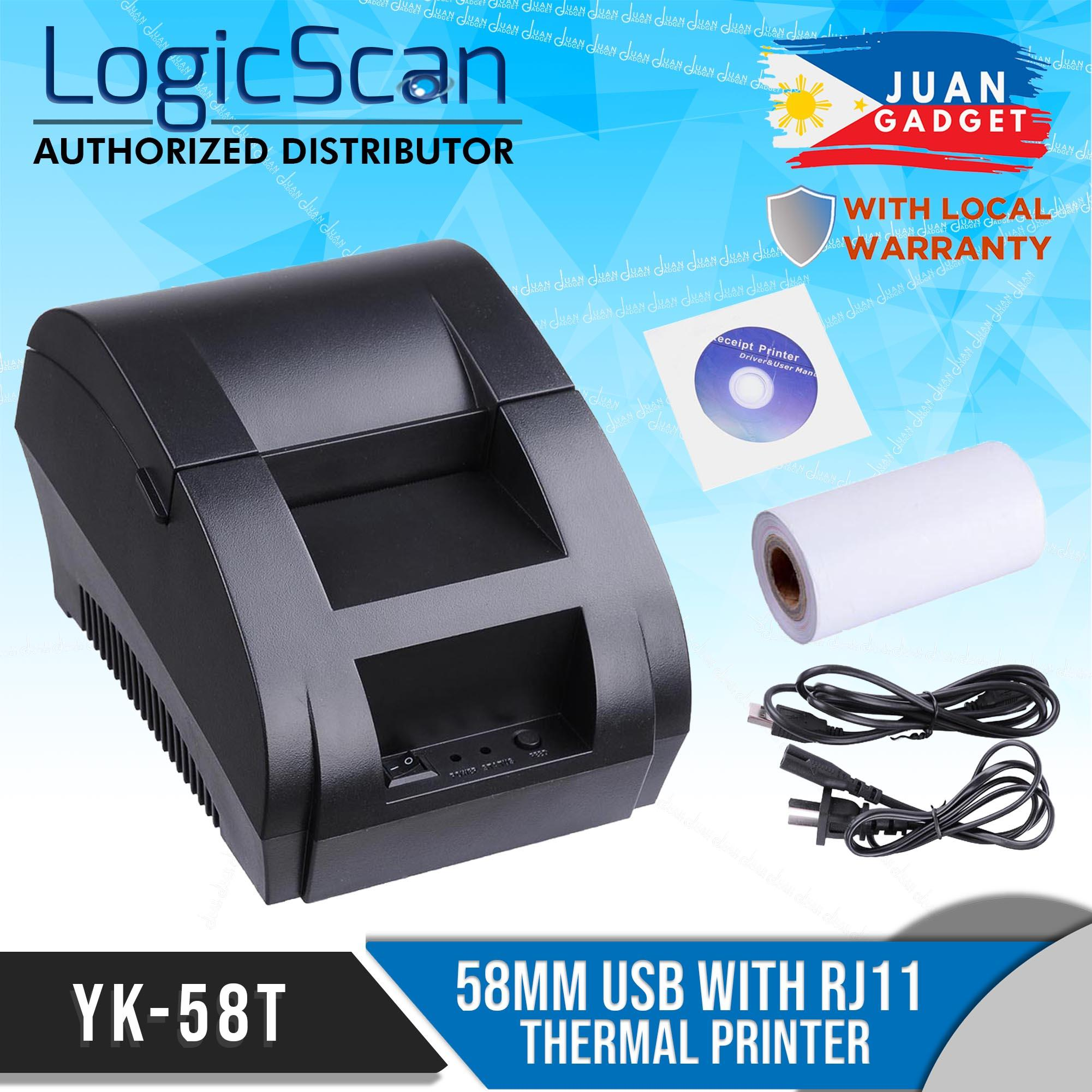Logicscan POS Printer Thermal 58mm Receipt with RJ11 and USB Port