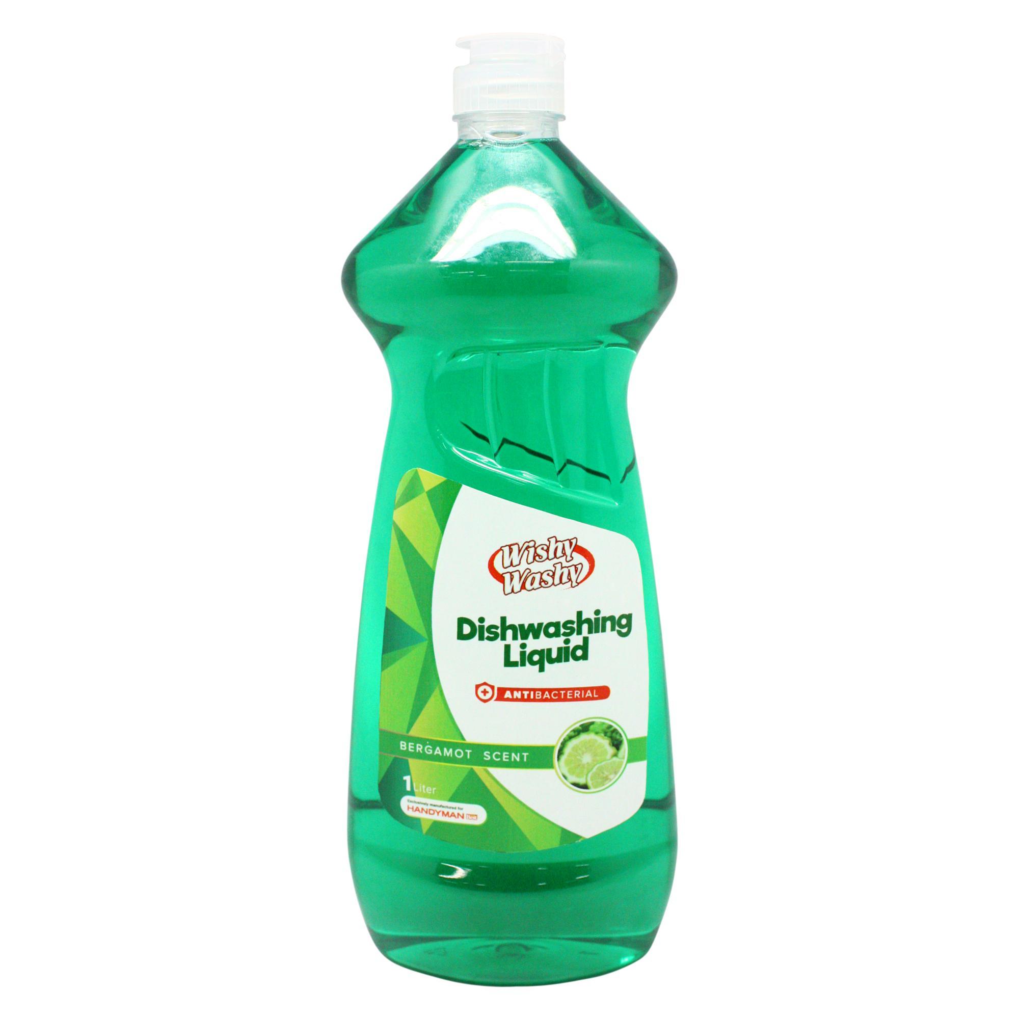 Wishy Washy Antibacterial Dishwashing Liquid With Bergamot Scent 1l By Handyman.