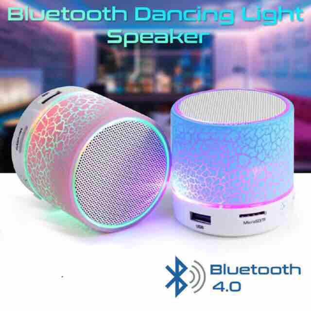 Cracks Mini Bluetooth Speaker With Changing LED Lights Support FM / USB / TF / BLUETOOTH