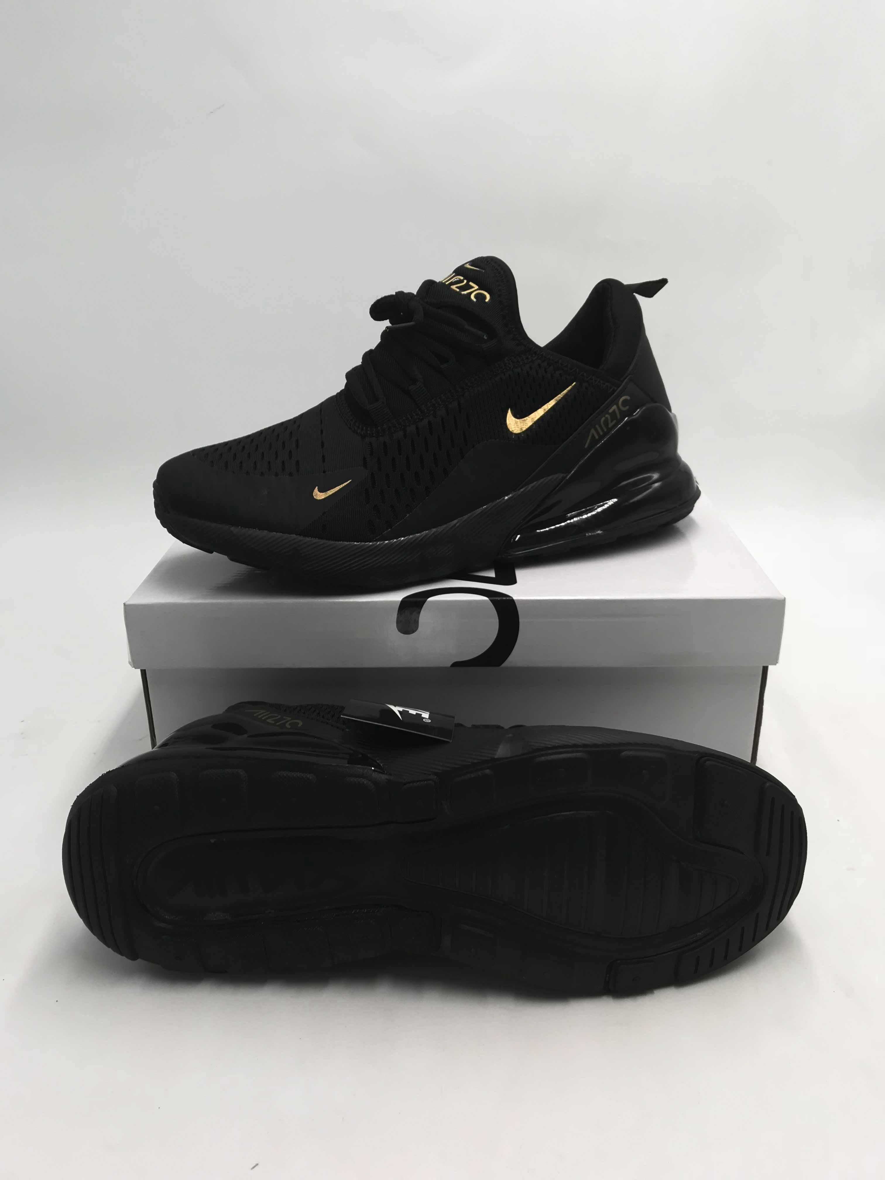 new product f770d e0ab3 Airmax 270 Black Gold For Women