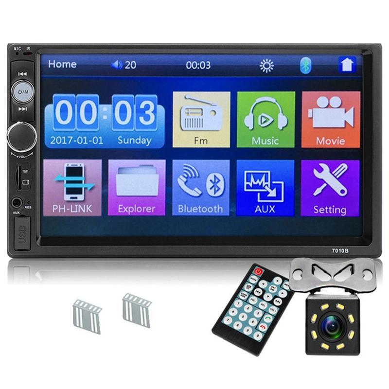 Upgrade 7010B 2 Din Car Radio 7 inch Player Mp5 Press Screen Bluetooth Multimedia Mirror Android