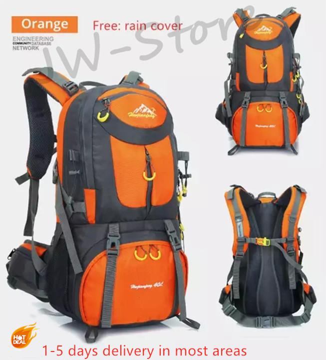 a6b0edbbb08e7  Ready Stock  Hiking Backpack 50L Rucksacks Waterproof Backpack Men Outdoor  Camping Backpack Gym Bags