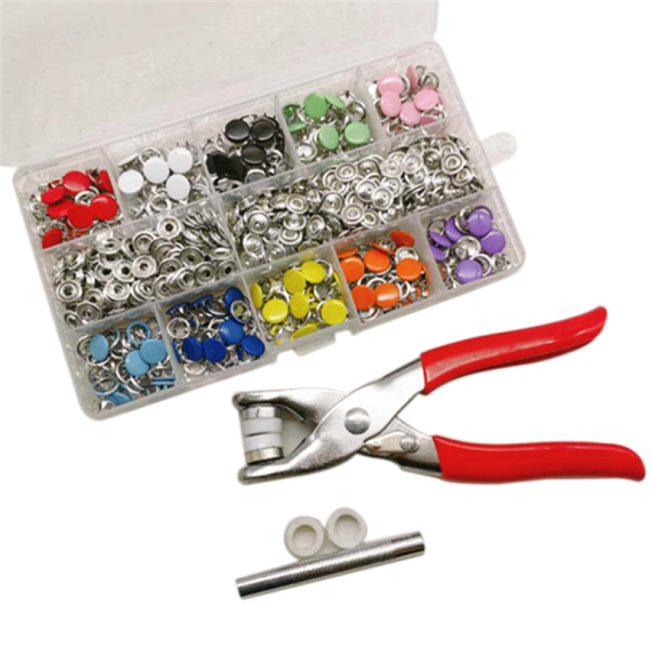 Mua 200 Pcs/Set 10 Colors Snap Fastener Kit Snap on Buttons Set with Fixing Tool for Leather Bracelet Shirt Skirt