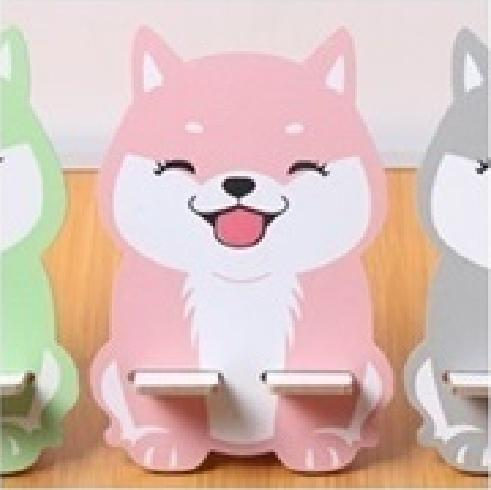 Creative Wooden Cute Phone Stand Desk Cellphone Holder Wooden By Sofia Lohan Korean Products.