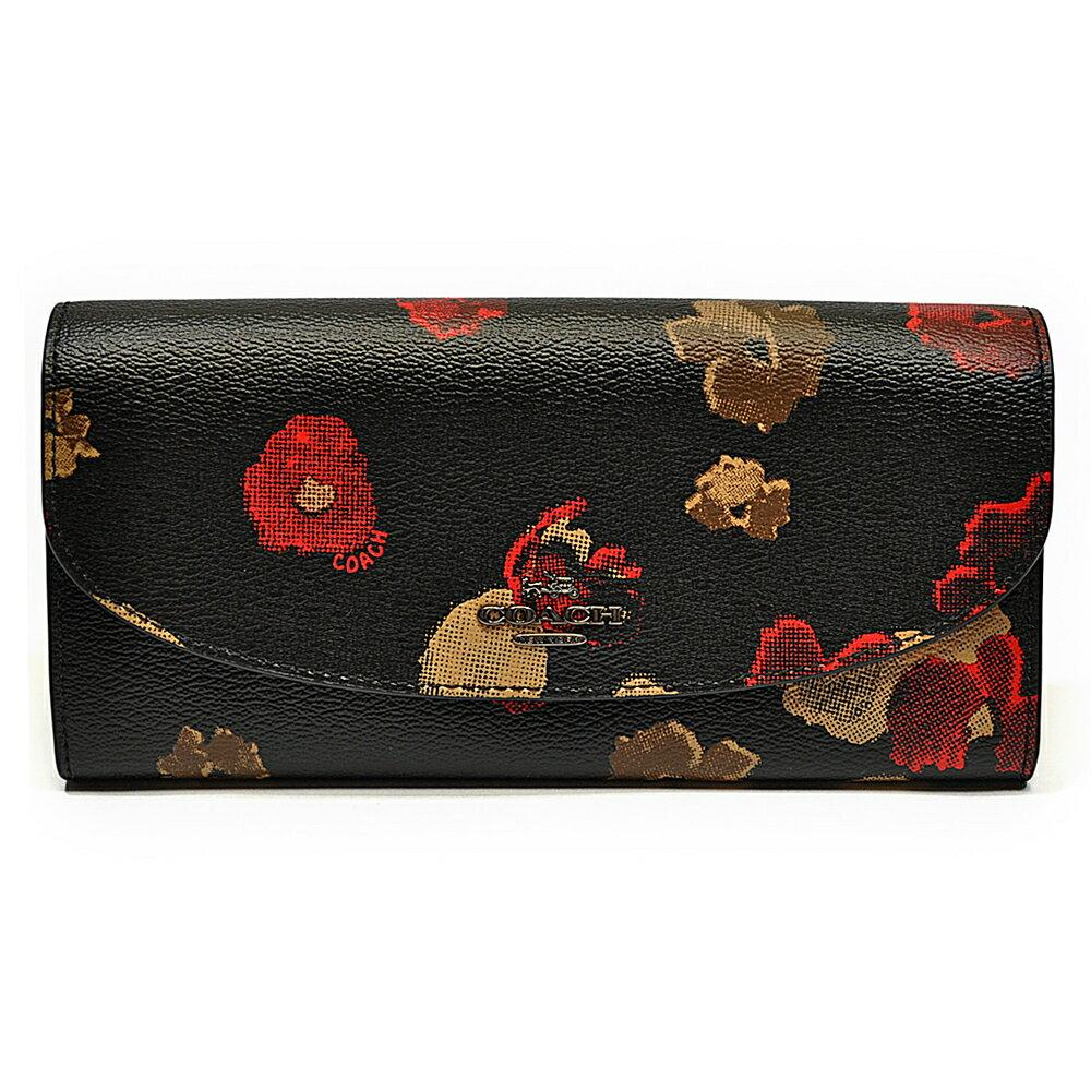 6baacd802c GQ SLIM ENVELOPE WALLET IN HALFTONE FLORAL PRINT COATED CANVAS (COACH  F55675)