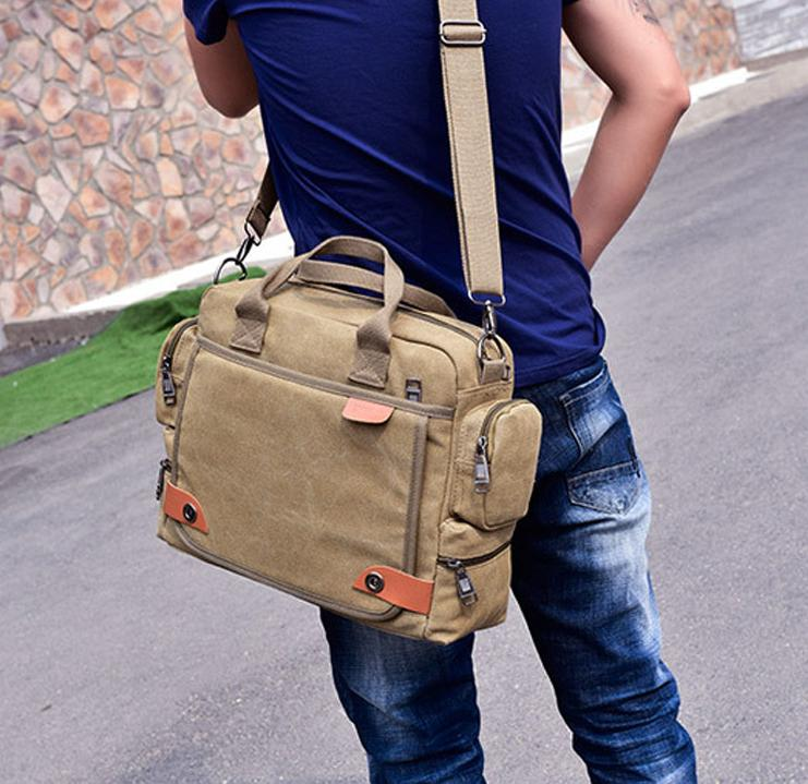 181f9770f4 High Quality Canvas Satchel Messenger Bag for Traveling Camping Classic  Multifunctional Mens Crossbody Working Field Casual