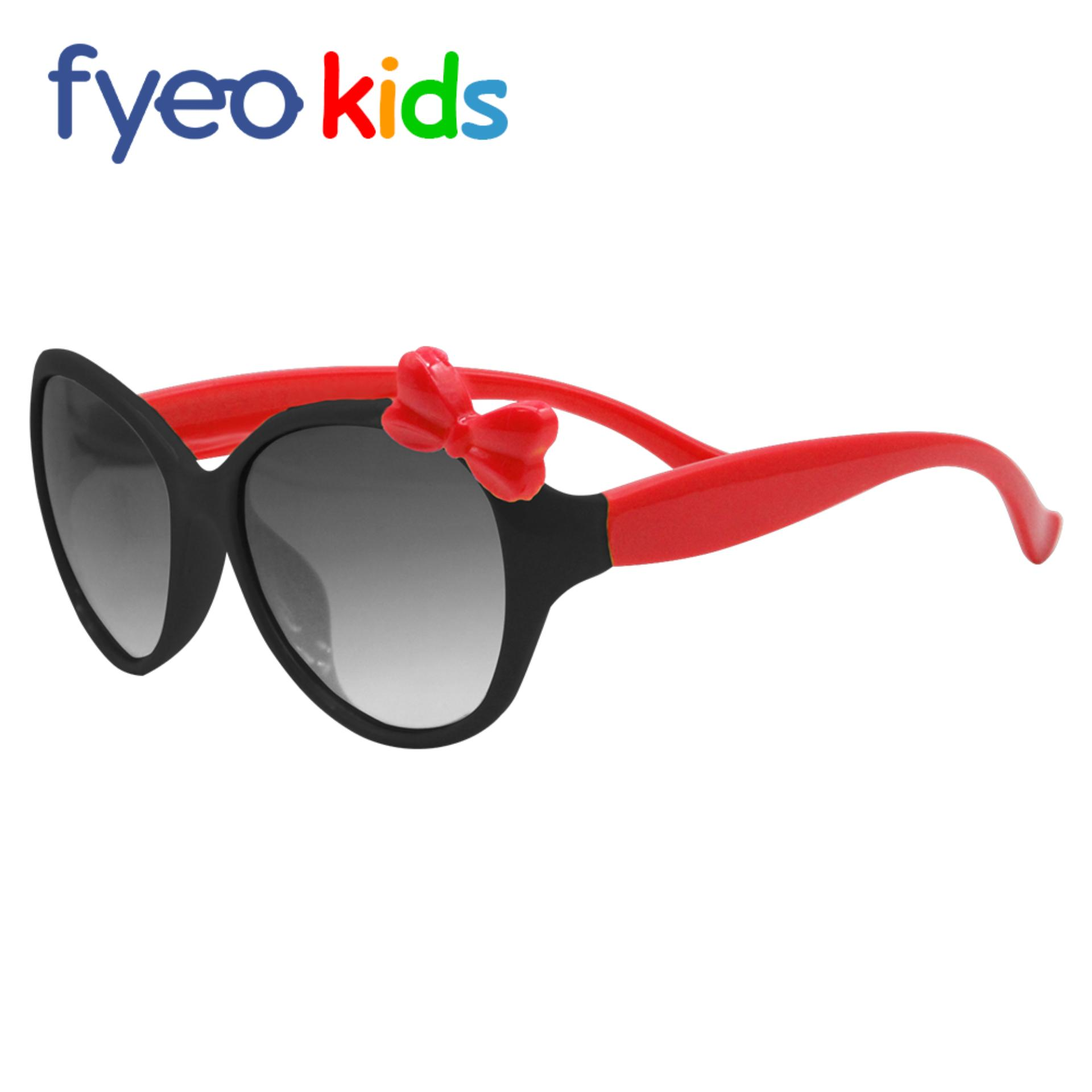c5c3a4a376 Anti-UV Sunglasses for Kids Girls Ribbon Fashion Sunglasses Frame Black  Leg Red