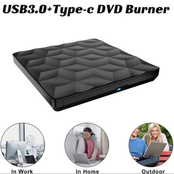 Bảng giá External CD DVD Drive USB 3.0+TYPE-C CD DVD Burner CD DVD Player for Laptop Mac Desktop Mac OS Windows10/8/7 Phong Vũ