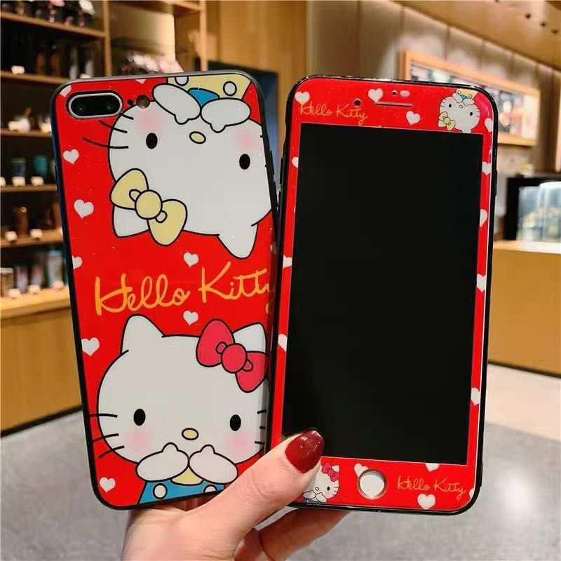pretty nice ee469 7642e Samsung S3 Case 2 In 1 Cartoon Tempered Glass