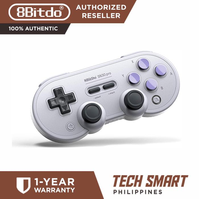 8Bitdo SN30 Pro,Wireless Bluetooth Controller with Classic Joystick Gamepad  for PC Android Windows macOS,Steam and Nintendo Switch (SN Edition)
